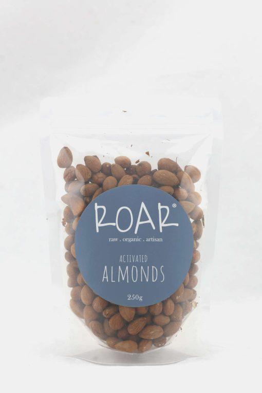 ROAR organic almonds activated 250g front.JPG
