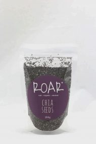 Chia seeds are one of nature's best sources of alpha linolenic acid (omega-3s). They're also full of fibre and chocca with calcium. More than 90% of the calories in chia seeds come from the insoluble fibre (which is not digested), meaning they are both filling and low in calories, making them a great food for this looking to eat more for less calories!